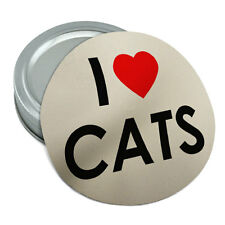 I Love Heart Cats Round Rubber Non-Slip Jar Gripper Lid Opener