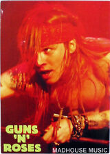 GUNS N ROSES Axel Laying POSTCARD - OLIVER BOOKS UK Official 1994 Cat OB064