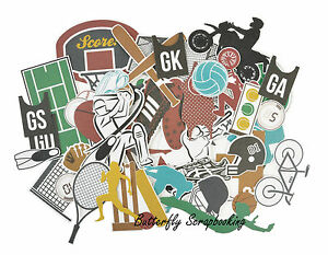 Sports Game On Collection Scrapbooking 50 Die Cuts Collectables Kaisercraft NEW