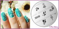 Konad Stamp Nail Art Decal Image Plate M32 FLOWER DANCE
