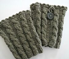 Hand Knitted, wool boot cuffs/toppers