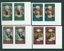 Tanzania 1986 Royal Wedding unissued set of 4 in imperforate pairs unmountedmint