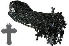 50 hematite stone necklaces pendants lot cross #FL