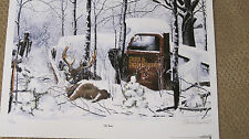 """"""" OLD TIMERS """" by Artist Charles Denault - Whitetail Deer & Deer Hunting Print"""