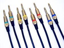 6m 9m Instrumenten Kabel Gitarren Kabel OFC-Kupfer 4 Stück  je 2x 6m und 2x 9m