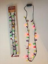 4 Small Light Up Christmas Bulb Necklace Party ideas Jewelry Necklace Xmas Gift