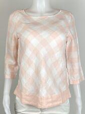 NWT J Jill Women Size XS Multicolor 100% Linen 3/4 Sleeves Blouse Top Shirt. H