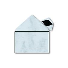 25x Trauerumschläge - Marmor mit Rahmen - (19,1 x 12,0 cm)