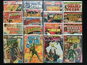 WAR Lot of 17 Charlton / DC / Marvel Comics - Army @War, GI Combat, Cap Savage+!