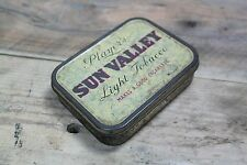 Vintage Players Sun Valley Light Empty Tobacco Tin Great Storage (No. 1)