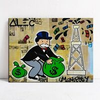 RICH COLLECTION Alec monopoly Graffiti,HD print on canvas for wall decoration!