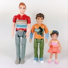 3Pcs Fisher Price Loving Family Dollhouse America Brother Sister doll figure toy