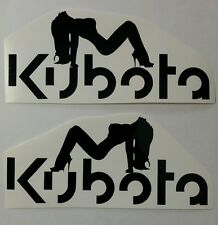 TRACTOR pulling decal KUBOTA ladies logo plow mower trailer STICKER 2 decals
