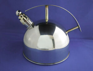 CHANTAL SATURN TEA KETTLE w HOHNER 2-NOTE WHISTLE, #SL37-16, 1.5qt. EUC