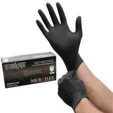 TWO packs of 100 MidKnight Black Powder-Free Nitrile Gloves - Large MK-296-L