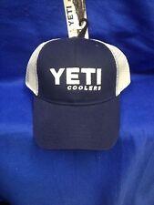 NEW YETI TRUCKER HAT BLUE WHITE MESH ONE SIZE TRUCKER   SNAP BACK 20ec306e40ff