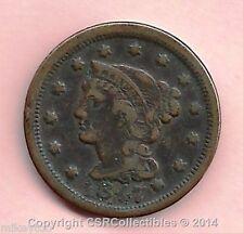1847 Braided Hair Large Cent - KM#67