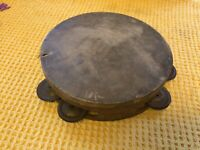 Antique Wooden And Skin Tambourine