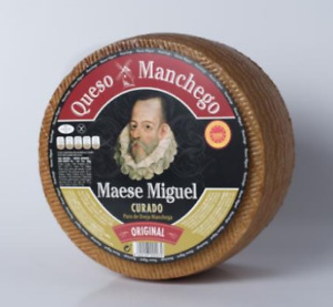 Manchego DOP Original cheese aged 6 Months - Whole Wheel of 6.5 pounds