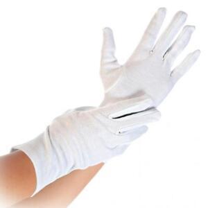 Weiße Baumwollhandschuhe, Stoffhandschuhe, Größe XS - XXL, , Trikothandschuhe