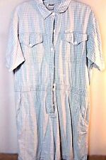 "Vintage 80s 90s ""Dreams"" Striped Jumpsuit Belted Short Sleeve Shorts Size L #23"