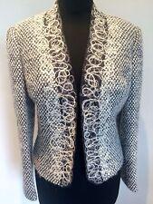 Minuet Wool, Alpaca & Mohair Blend Elegant Lined Ladies Jacket Size 12 Grey VGC