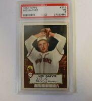 1952 Topps Ned Garver PSA VG 3 Baseball Card #212 MLB St. Louis Browns