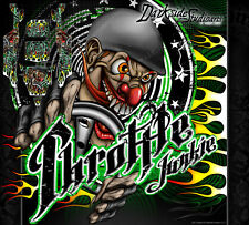 """AXIAL YETI MONSTER BUGGY GRAPHICS DECALS WRAP """"THROTTLE JUNKIE"""" FITS OEM PARTS"""