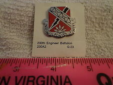 230th Engineer Battalion G-23 Unit Crest, DI, DUI (DRAW#S18)