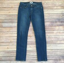 Paige Skyine Ankle Peg Jeans in Olivia Medium Wash Stretchy, Size 27 x 28 Inseam