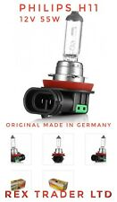 10 * Original Philips H11 Bulbs Halogen Clear Light, 12V 55W Made in Germany.