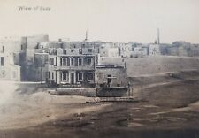 View of Suez Post Card Egypt New Beach History