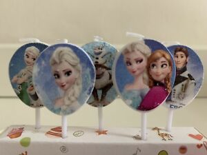 Frozen Elsa Anna Olaf Candles  Birthday Kids  Party Cake Decoration
