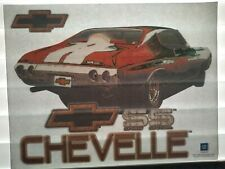 Rare Vintage Chevy Chevelle Ss Iron On T-shirt Transfer Nos