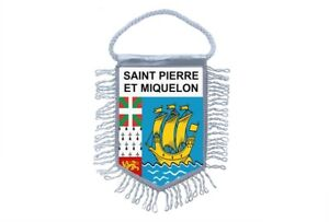 Mini banner flag pennant window mirror cars banner sant peter and miquelon