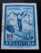 Argentina-1961-100p Ski Jumper-Used
