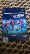 Programm Champions League Achtelfinale 2011/2012 FC Basel - FC Bayern München