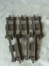 5 x LEGO Duplo Schiene Eisenbahn - Gerade grau - old dark grey - Ersatzschiene