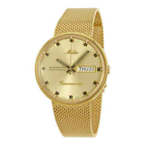 Mido Commander Automatic Yellow Gold Plated Unisex Watch M8429.3.22.13