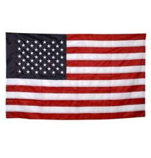 3' x 5' Deluxe Embroidered American Flag w/ Sleeve - United States of America