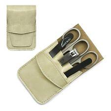 Mont Bleu 5-piece Manicure Set & Crystal Nail File Eco-Leather Case ANNA BEIGE