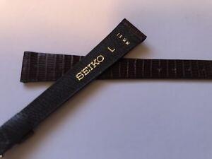 seiko wristwatch strap brown genuine lizard with seiko buckle 🇨🇦 brand new