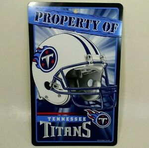 Tennessee Titans NFL Prop sign man cave vertical license plate wall decor