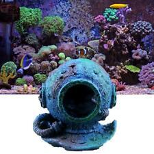 Marine Diving Helmet Wreck Aquarium Landscaping Decoration For Fish Tank