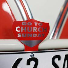 Go To Church Sunday License Plate Topper fits samba bus split oval zwitter kdf
