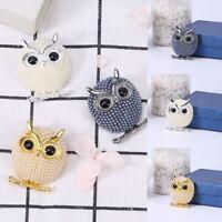 Breastpin Animal Lovely Jewelry Crystal Brooch Fashion Women Owl Rhinestone Pin