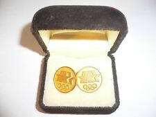 1984 Olympic Games Los Angeles Cufflinks NOC with Official Olympic Logo in case