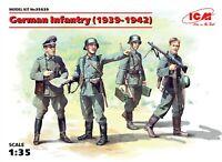 ICM 35639 German Infantry (1939-1942) (4 figures) 1/35 plastic model kit 50 mm