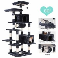 """New listing 80"""" Large Multi-Level Cat Tree Tower Play House Scratching Posts Activity Center"""