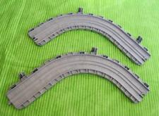 Thomas & Friends Train Take Along N Play Gray CURVED WALL TRACK A and B LOT of 2